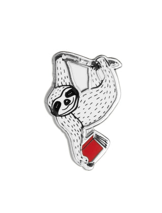 Book Sloth enamel pin