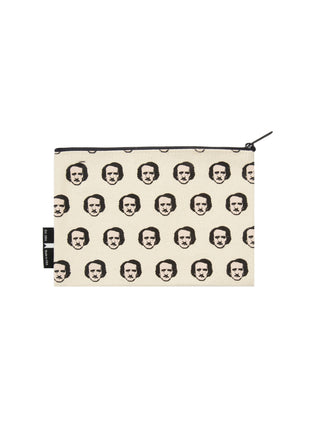 Out of Print Edgar Allan Poe-ka Dot Tote Large Cotton Canvas Bag