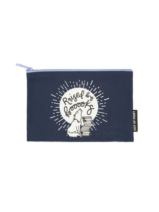 Raised by Books pouch