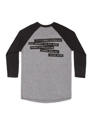 Punk Rock Authors Unisex 3/4-Sleeve Raglan