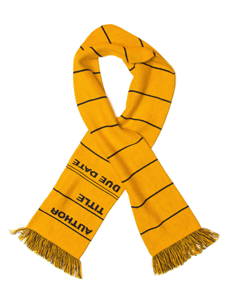 Library Card Scarf - Yellow