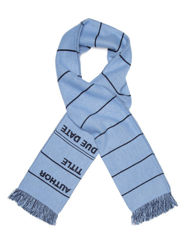 Library Card Scarf - Blue