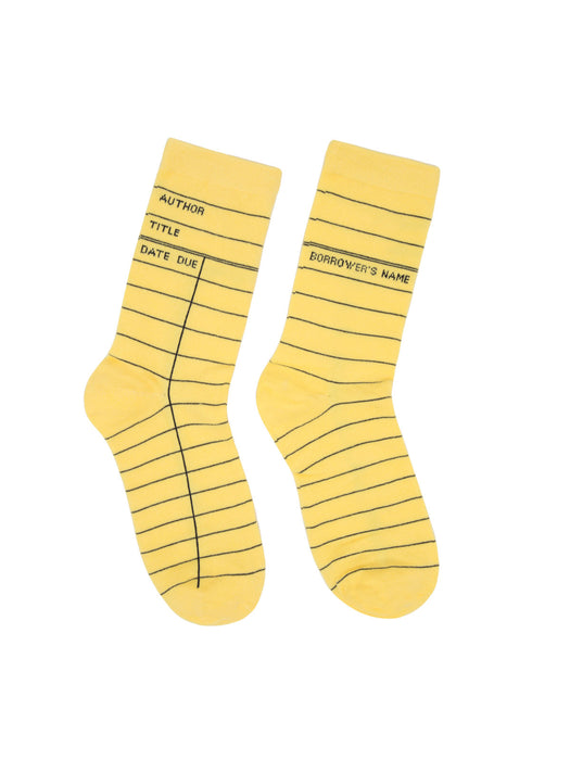 Library Card: Yellow socks