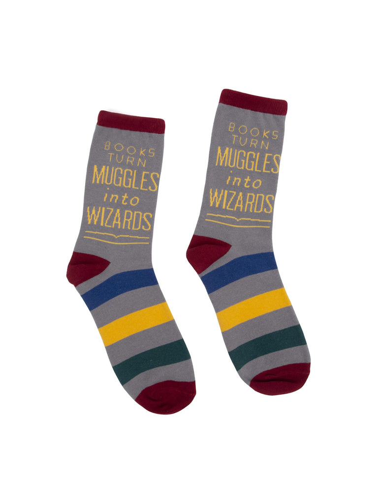 Books Turn Muggles into Wizards - Harry Potter Alliance socks