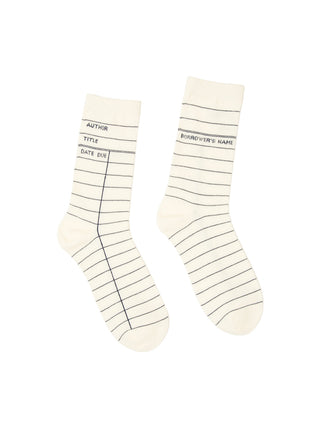 Library Card: White socks