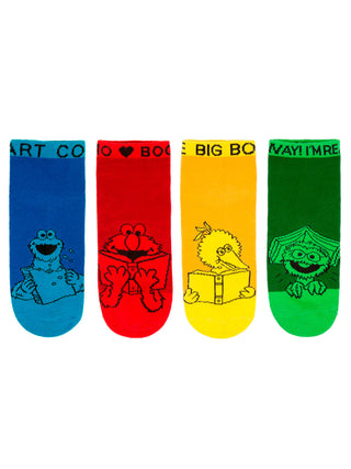 Sesame Street Adult Ankle Socks 4-pack
