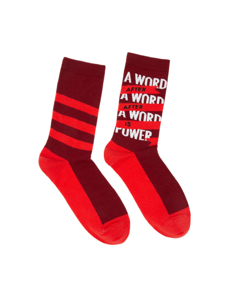 A Word is Power - Margaret Atwood socks