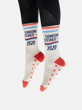 Someone Literate 2020 socks