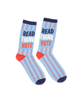 Read Think Vote socks