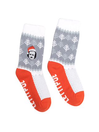 Let It Poe cozy socks