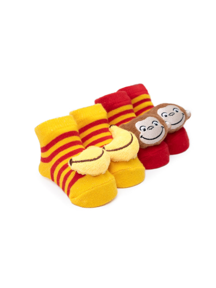 Curious George Baby Rattle Socks (2-pack)