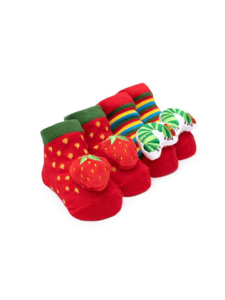 World of Eric Carle The Very Hungry Caterpillar Baby Rattle Socks (2-pack)