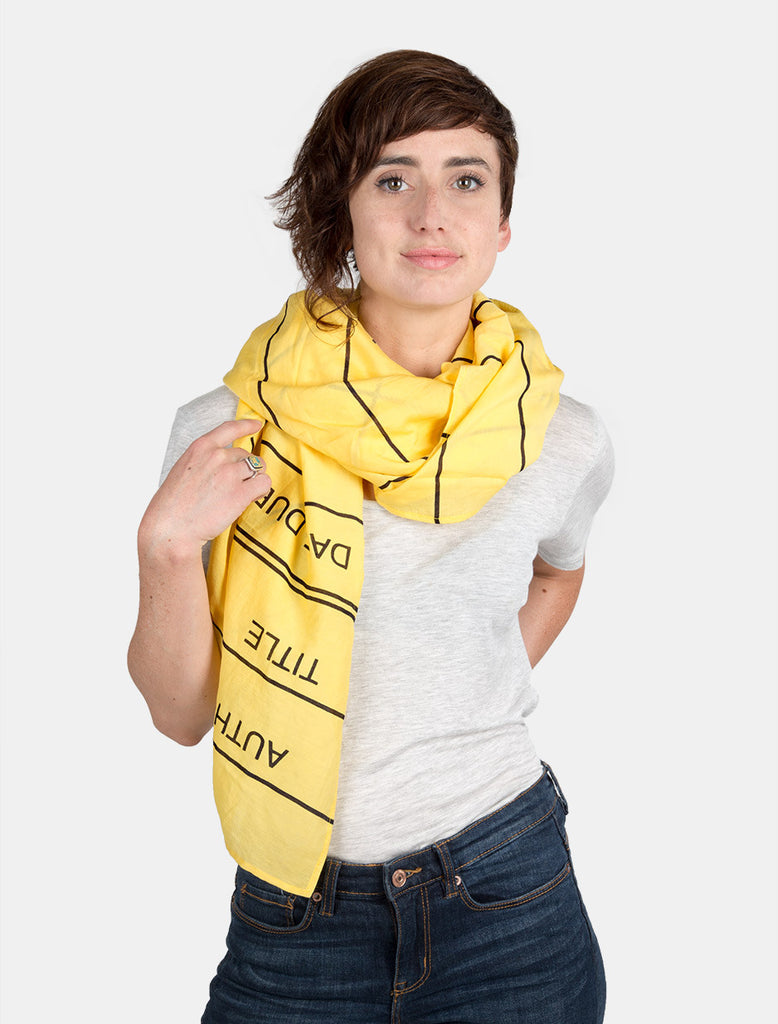 Library Card Lightweight Scarf
