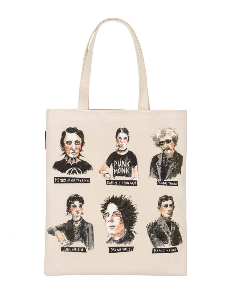 Punk Rock Authors tote bag