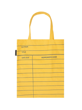 Library Card: Yellow tote bag