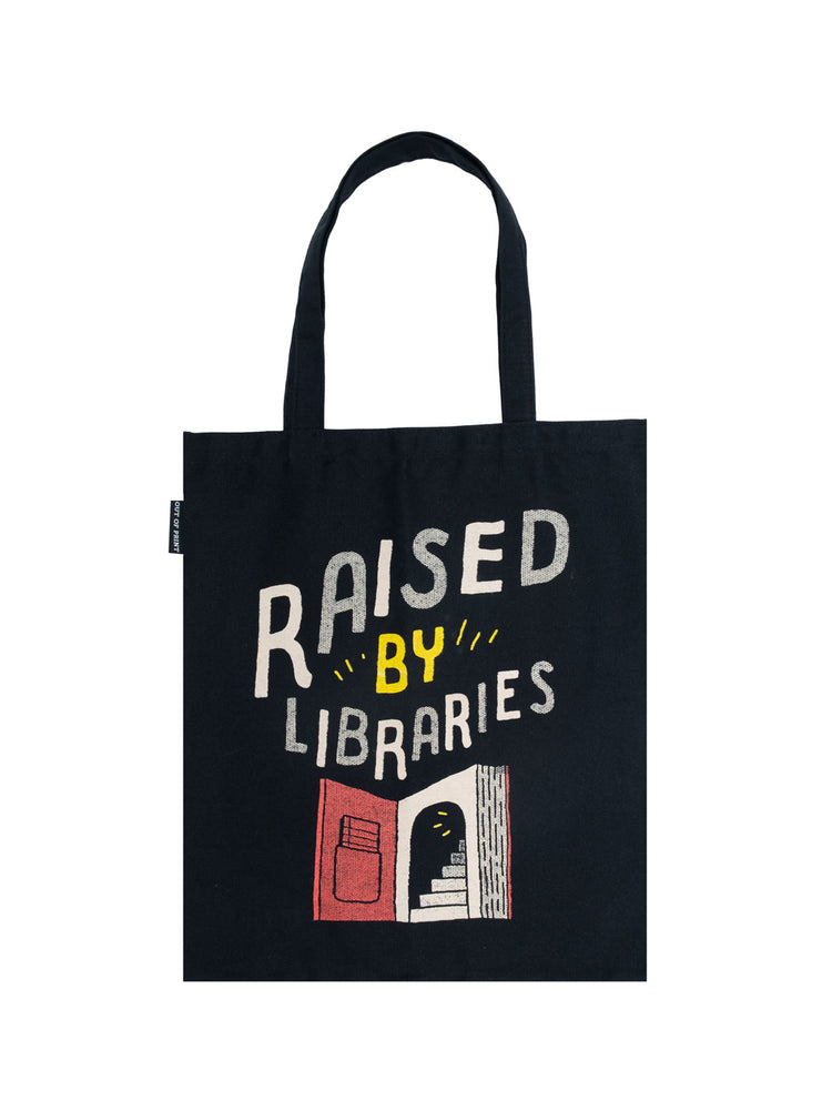 Raised by Libraries tote bag