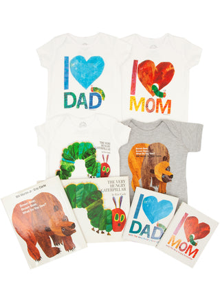 Bundle - Eric Carle onesie/kids' tee and books