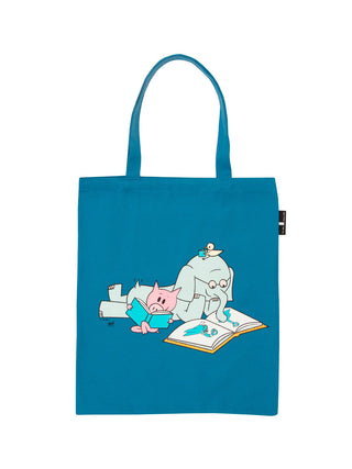 ELEPHANT & PIGGIE Read tote bag