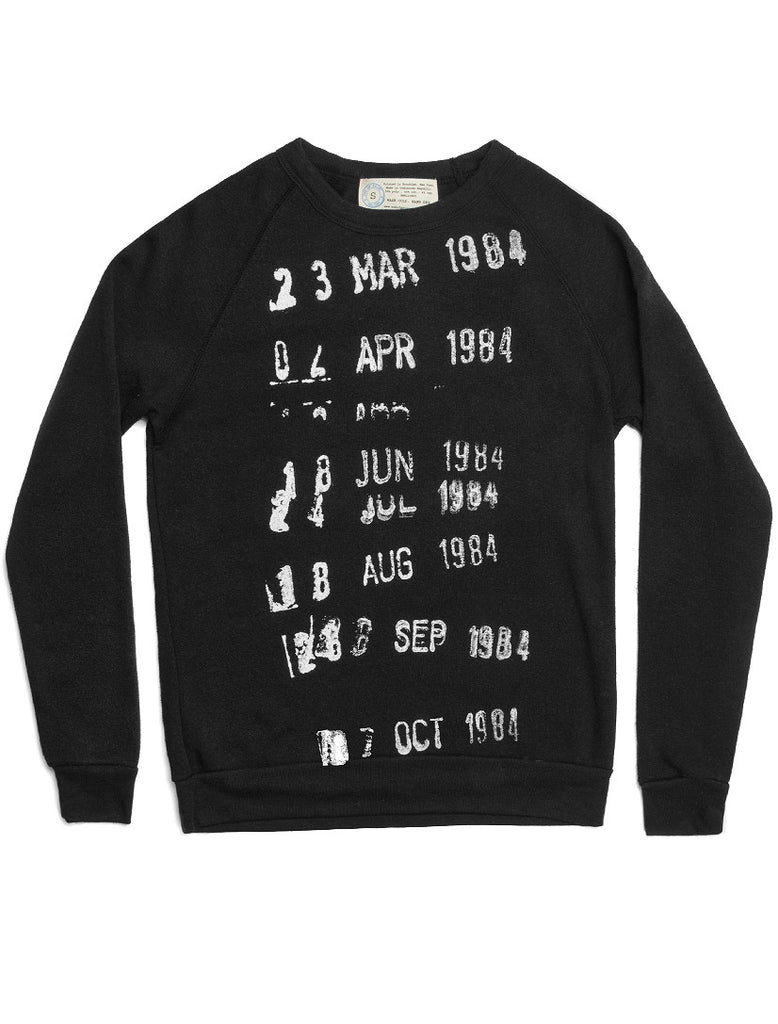 Library Stamp black sweatshirt