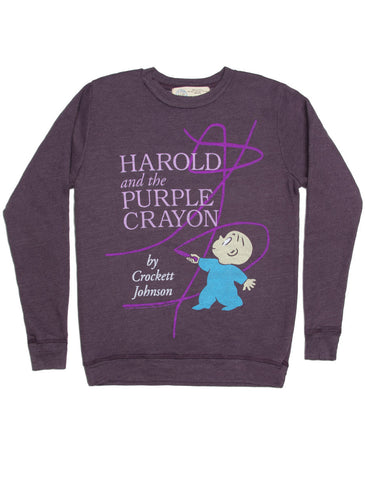 Harold and the Purple Crayon sweatshirt