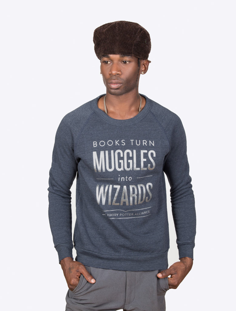 Books Turn Muggles into Wizards unisex sweatshirt