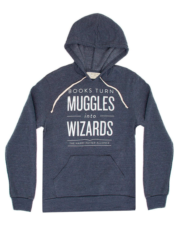 Books Turn Muggles into Wizards unisex hoodie