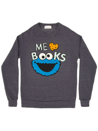 Cookie Monster - Me Love Books unisex sweatshirt