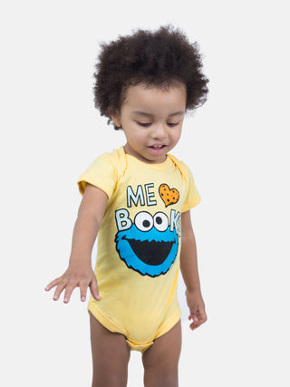 Baby Me Love Books Cookie Monster bodysuit