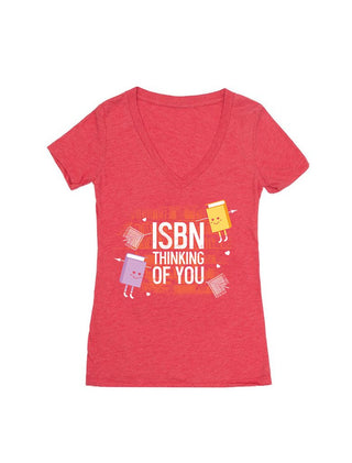 ISBN Thinking of You Women's V-Neck T-Shirt