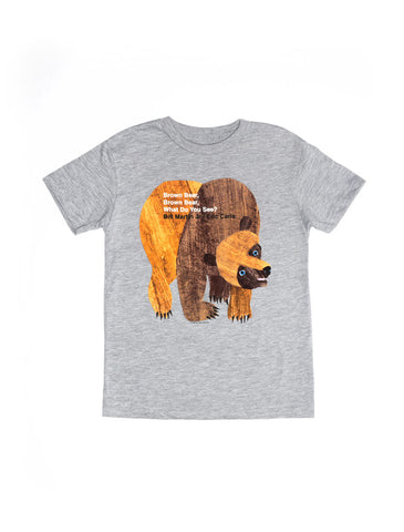 World of Eric Carle Brown Bear, Brown Bear, What Do You See? Kids' Tee (Gray)