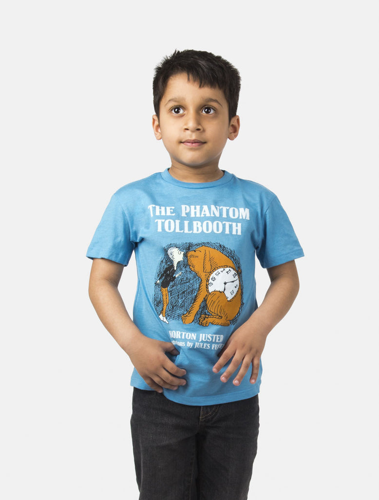 The phantom tollbooth kids t shirt out of print for Books printed on t shirts