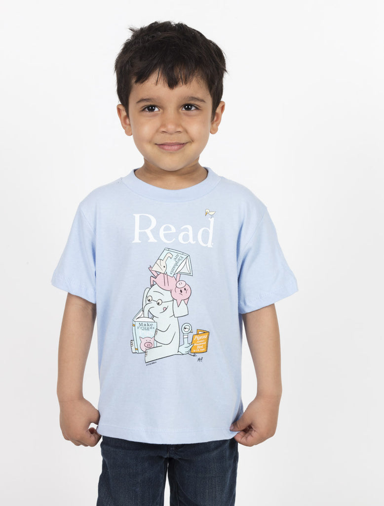 elephant and piggie read kids book t shirt u2013 out of print