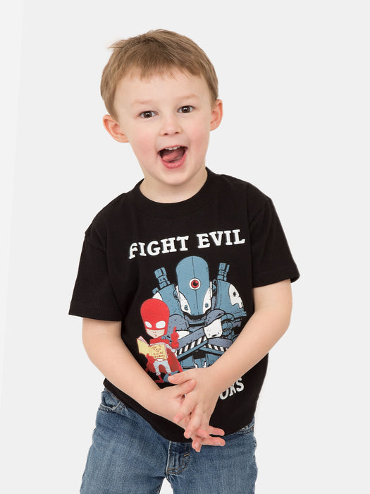 Kids' Fight Evil, Read Books T-Shirt