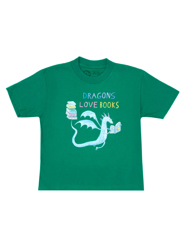 Kids' Dragons Love Books T-Shirt