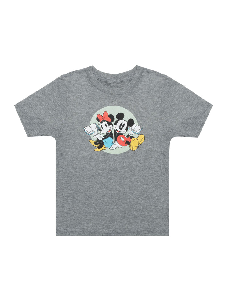 Kids' Disney Mickey Mouse and Minnie Mouse Reading T-Shirt