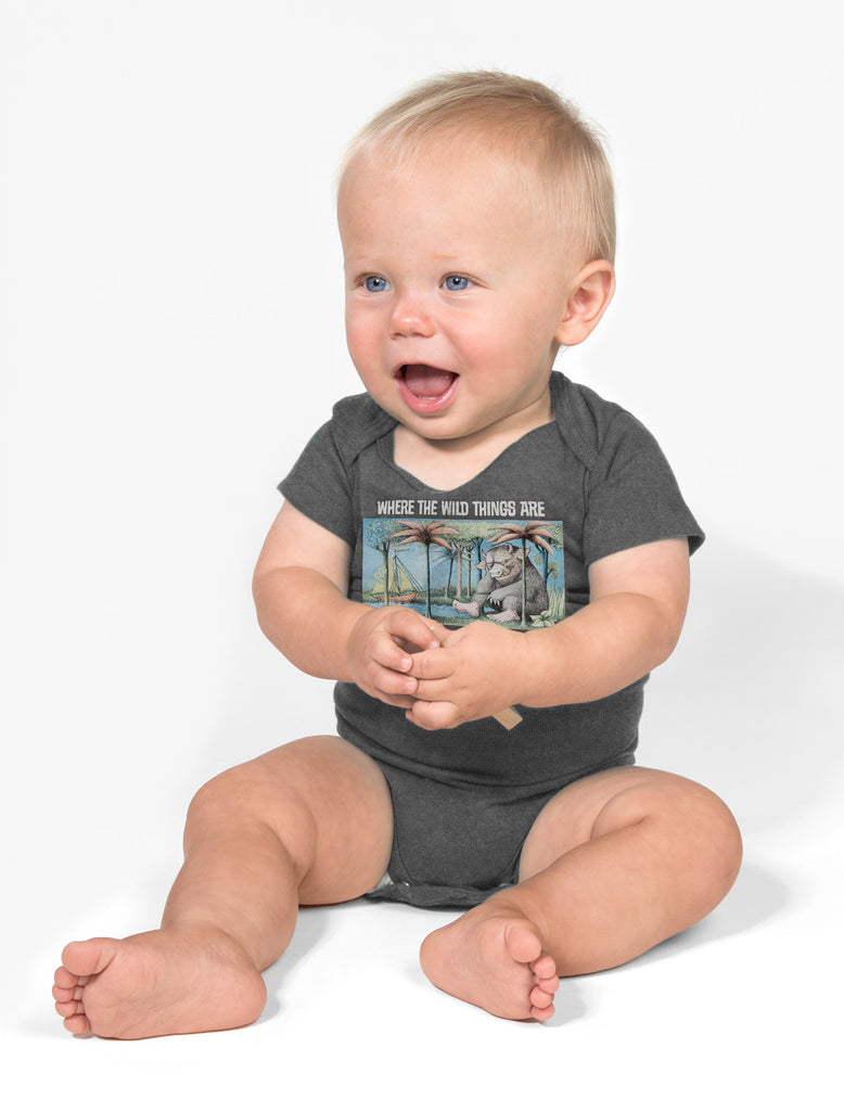 Baby Where the Wild Things Are - Gray bodysuit