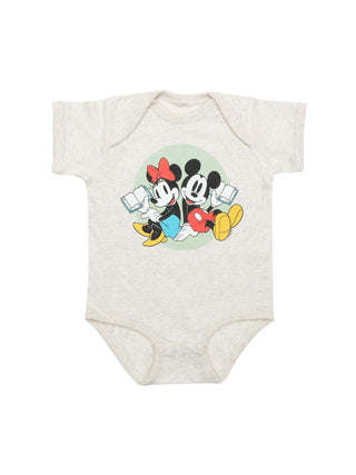 Baby Disney Mickey Mouse and Minnie Mouse Reading bodysuit