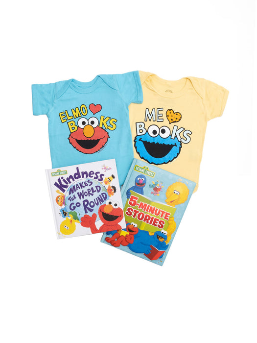 Bundle - Sesame Street onesie/kids' tee and books