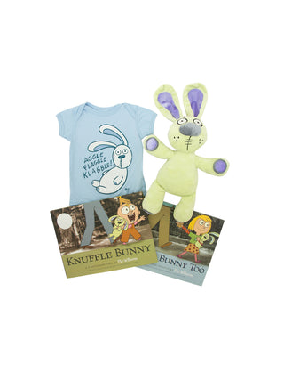 Bundle - Knuffle Bunny onesie/kids' tee and books