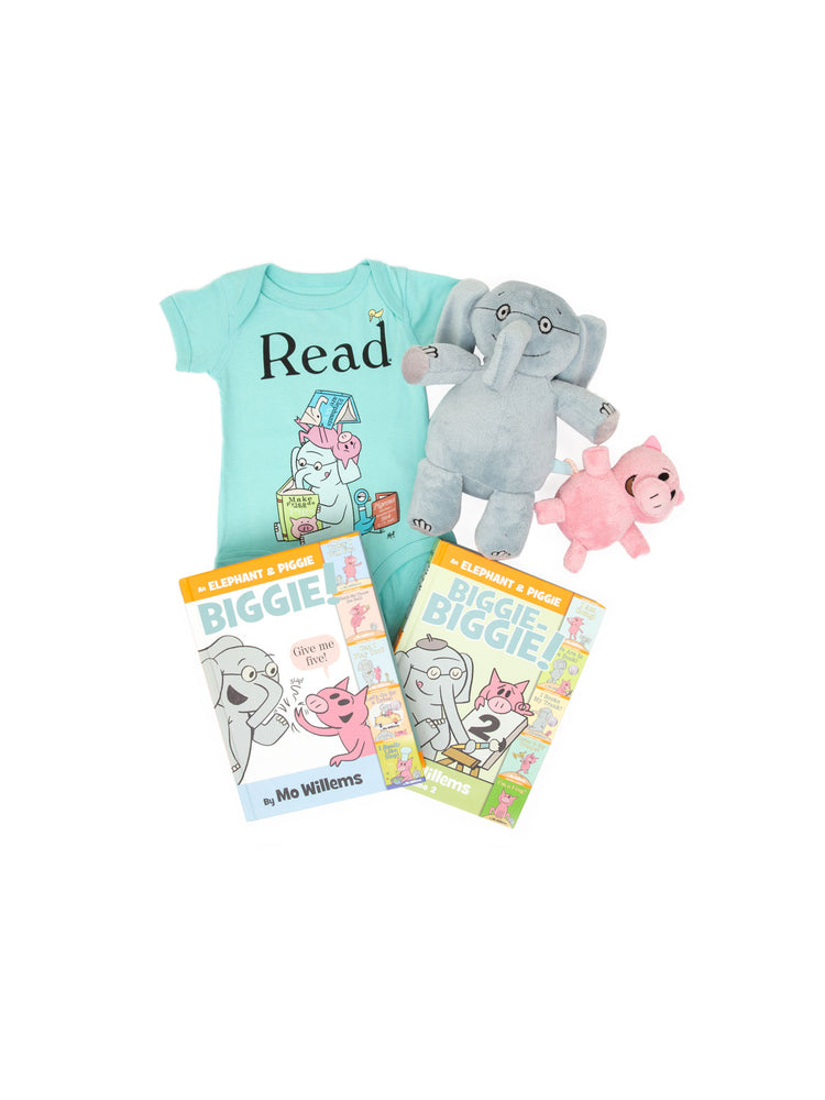 Bundle - Elephant & Piggie onesie/kids' tee and books