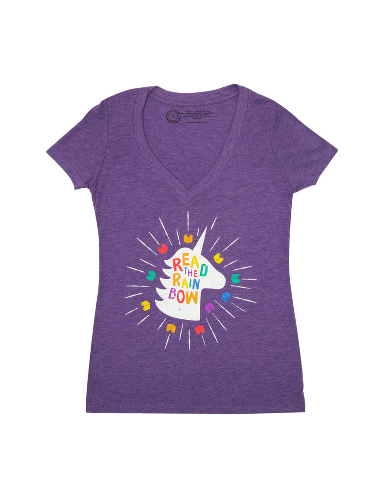 Read the Rainbow Women's V-Neck T-Shirt