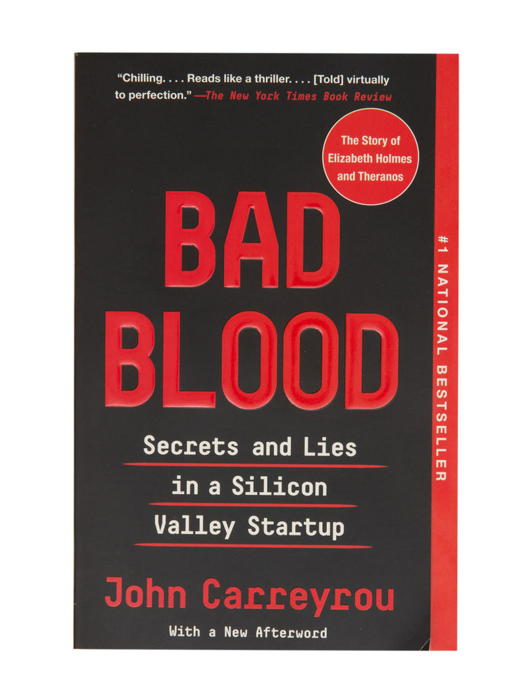 Bad Blood paperback book