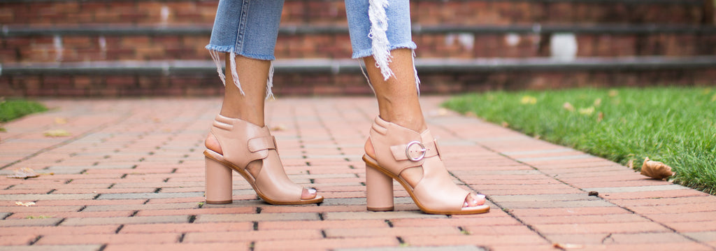 Hazel leather buckle bootie