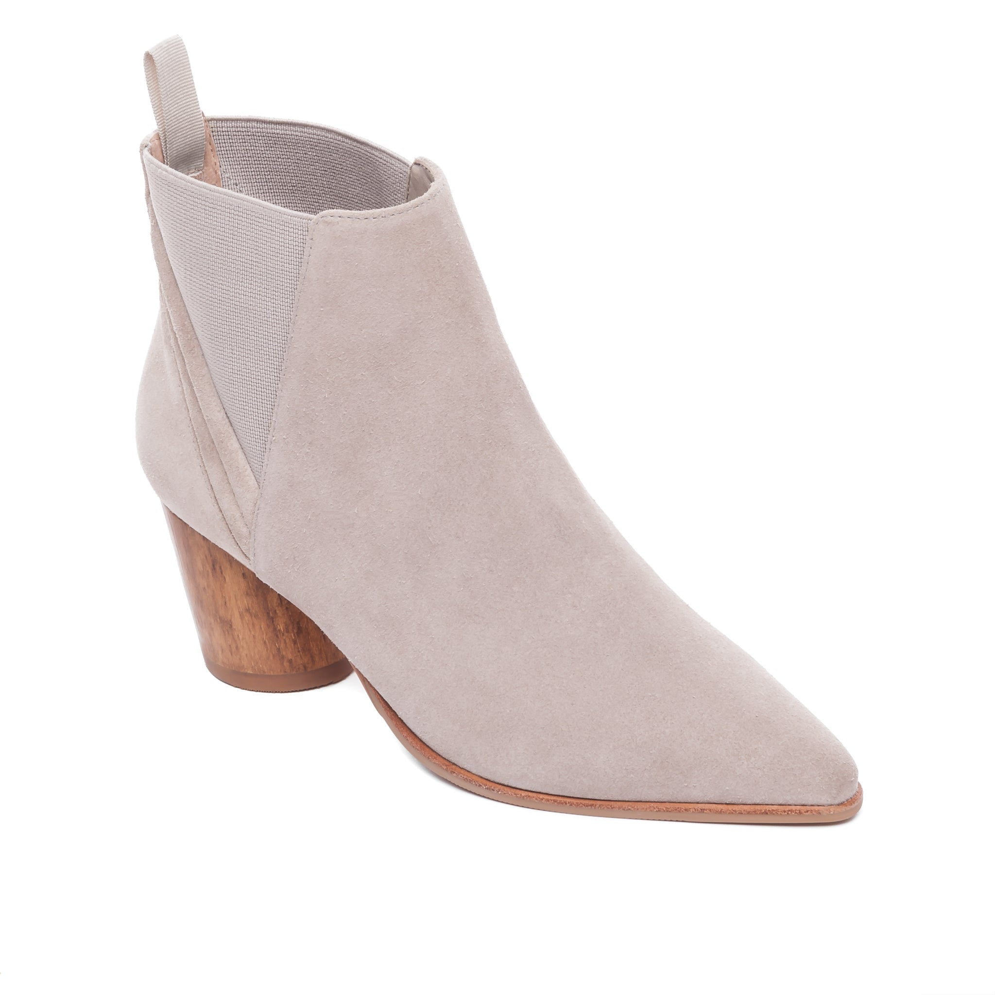 Ferris wood heeled ankle boot