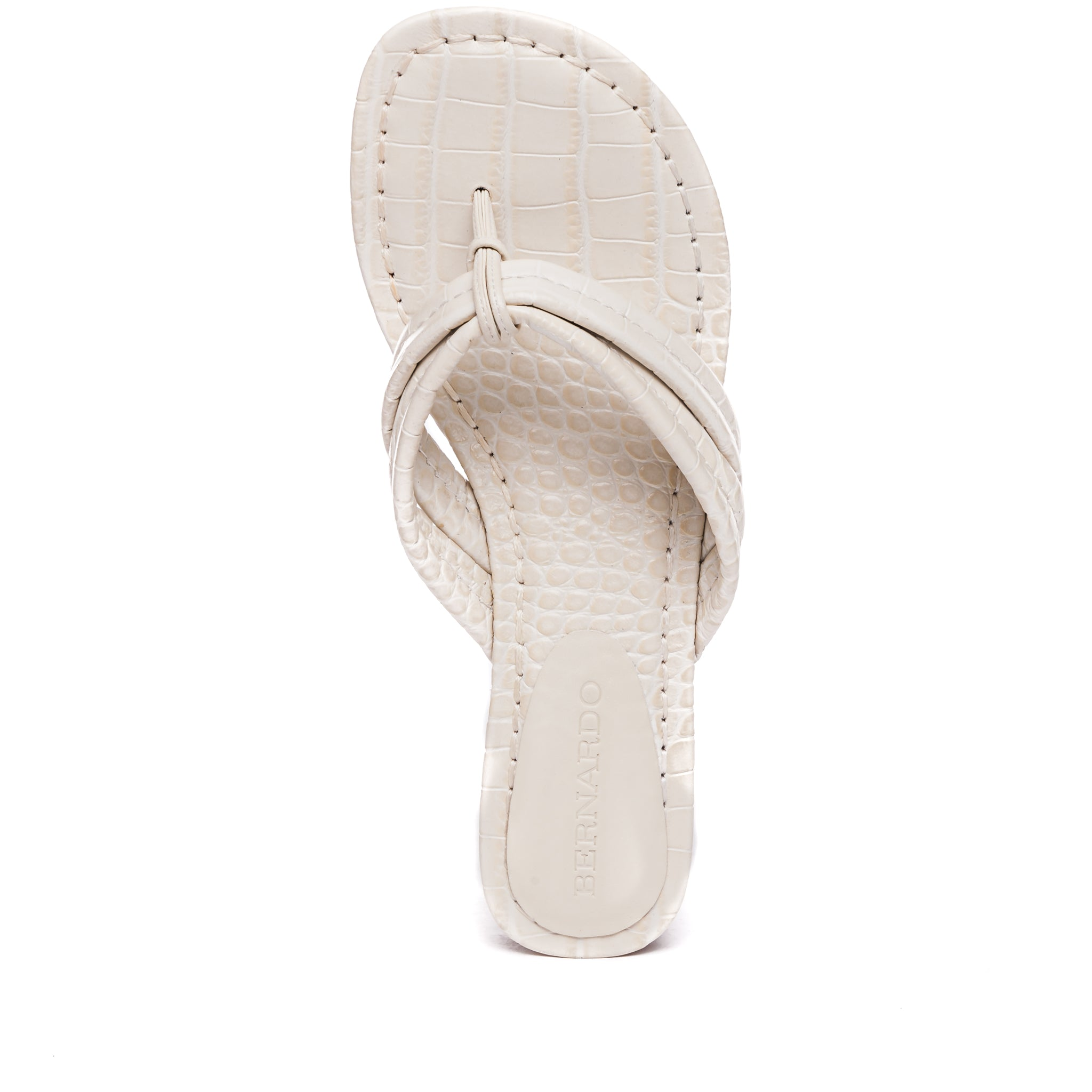 top view of Miami demi wedge sandal in eggshell leather