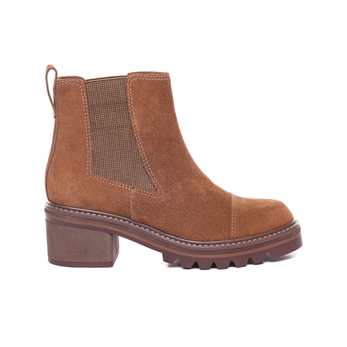 Salem Bootie in Tobacco Brown Suede