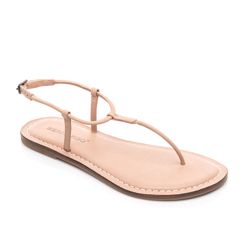 photo of Bernardo 1946's Lilly T-strap sandal in the color blush.