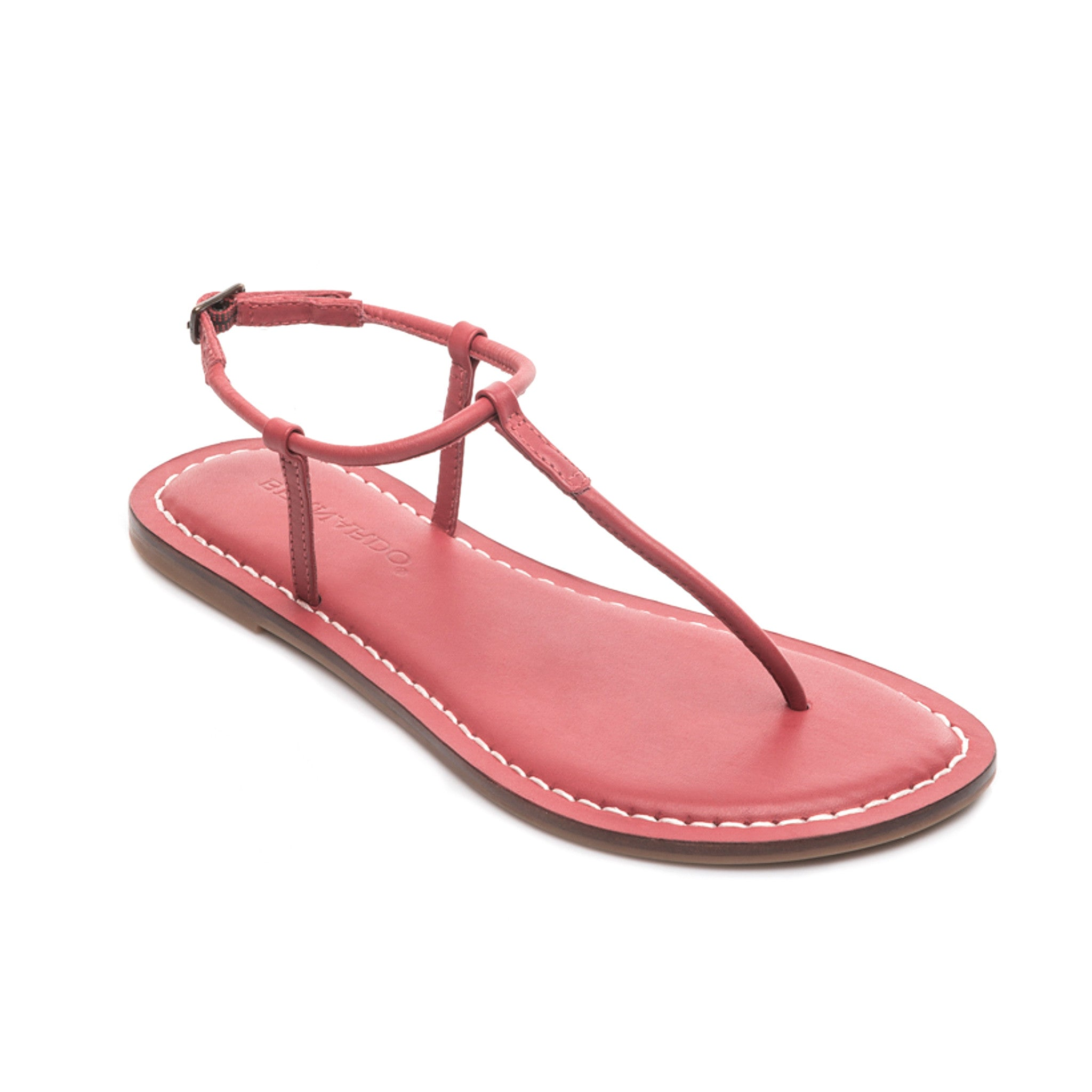 17bc3c601a3ed Bernardo Lilly Leather Thong T-Strap Sandal in Red Leather – Bernardo 1946