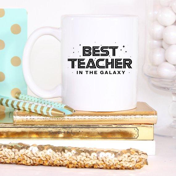 Best Teacher In The Galaxy / Fun Teacher Appreciation Coffee Mug - Jade & Harlow