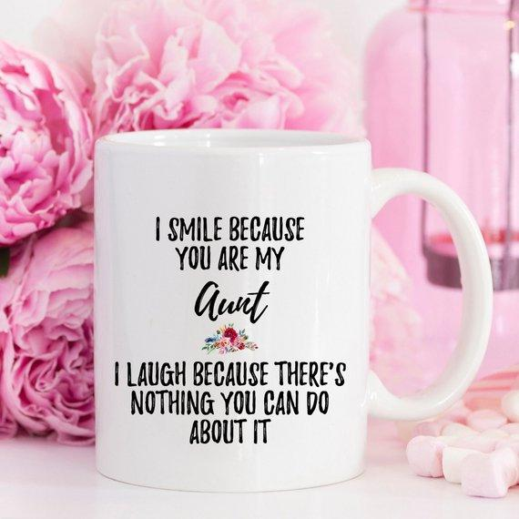 I Smile Because You Are My Aunt / Funny Ceramic Coffee Mug - Jade & Harlow